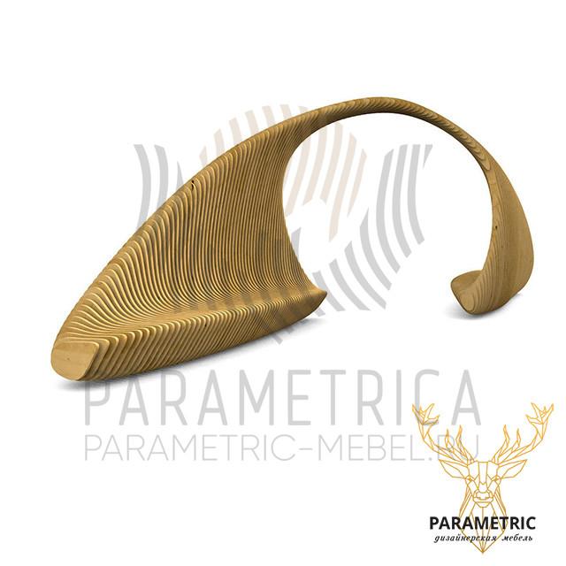 Параметрическая скамья Спираль