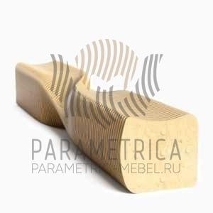 Параметрическая скамья Оригами