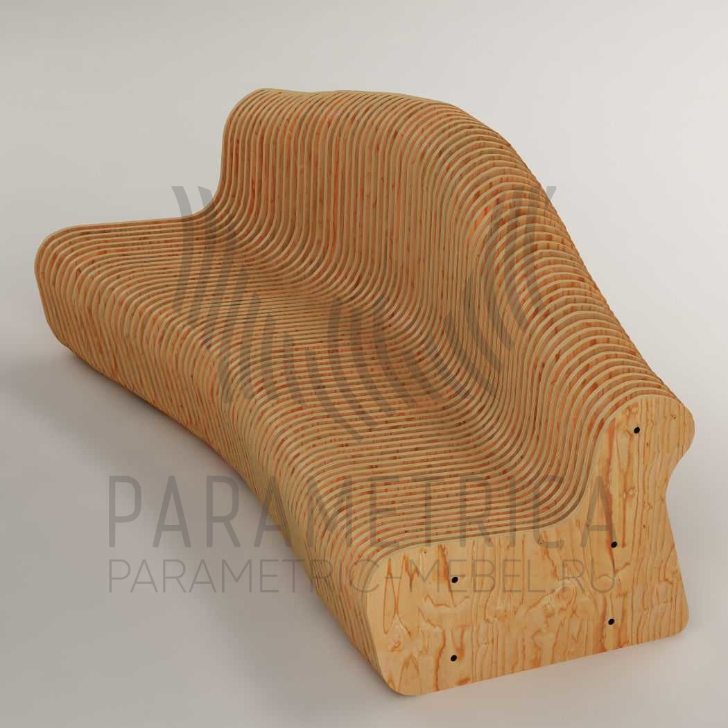 Параметрическая скамья STUDIO