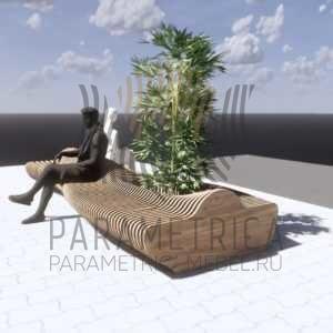 Параметрическая скамья SUNSET