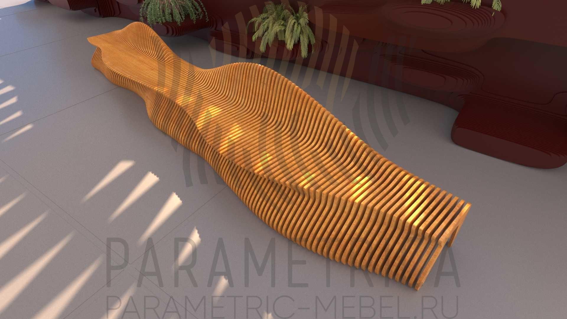 Параметрическая скамья CANYON