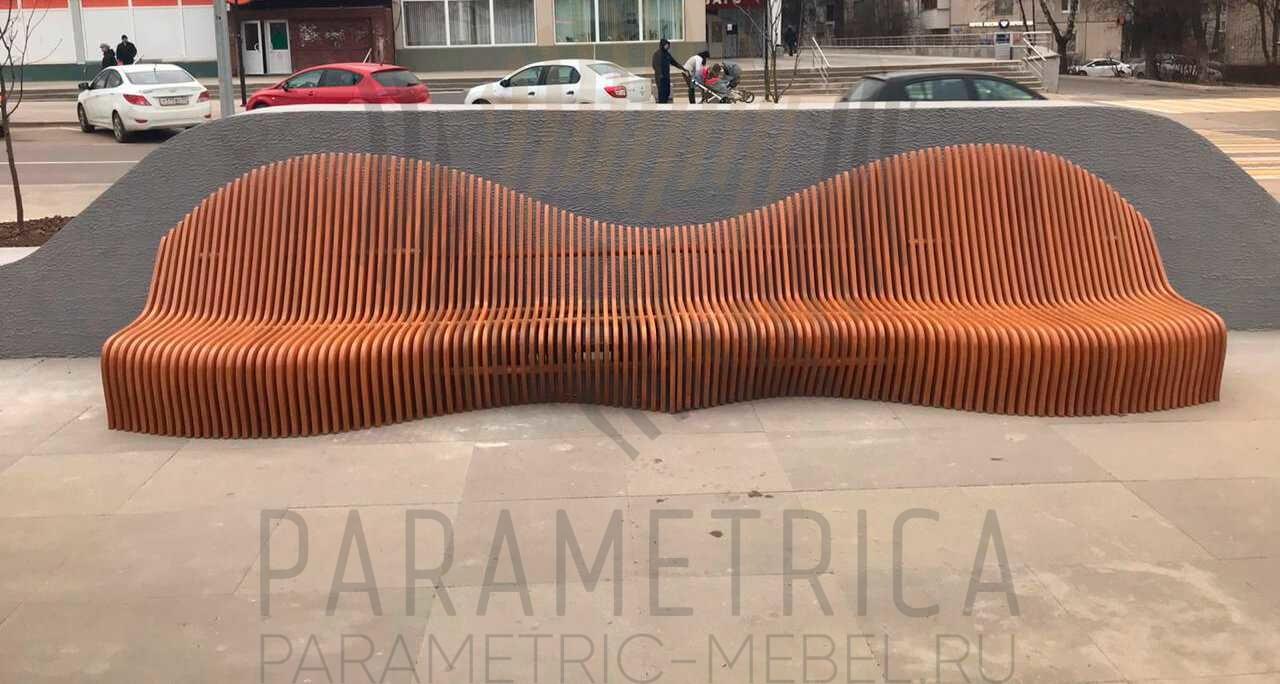 Paremetrica bench parametrica mebel