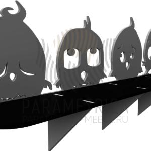 Деревянная полка Angry Birds