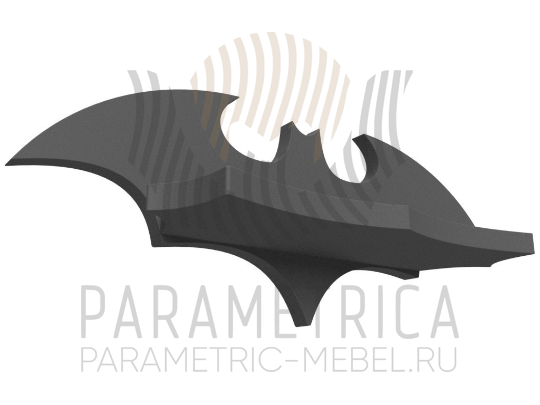 Деревянная полка Бэтмен-мини.