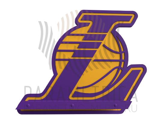 Деревянный декор LA Lakers
