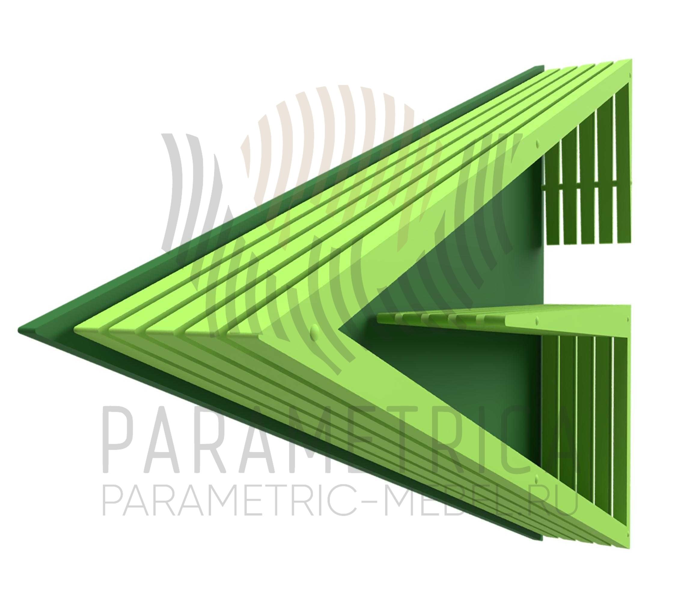 Деревянная полка Green Arrow