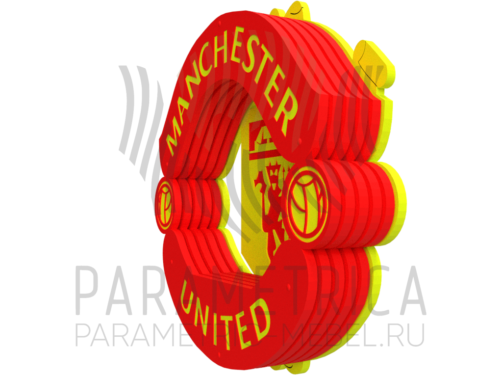 Деревянная полка Манчестер Юнайтед.